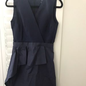Carven navy cocktail dress